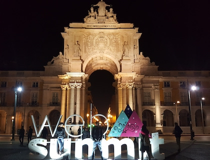 Web Summit Logo placed in Lisbon